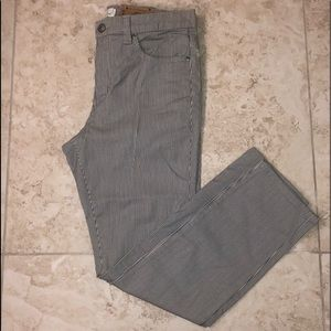 H&M cropped pants. Blue and white striped. Sz 10.